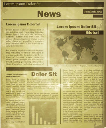newspaper headline: Newspaper news flat image background news vector. Old vintage style could be used for your design