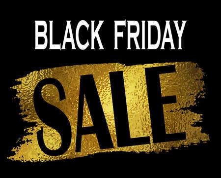 Nero banner di vendita del venerdì con sul nero con la pellicola
