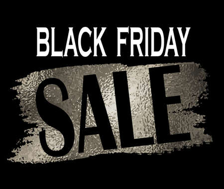 Black friday sale banner with on black with foil Ilustrace