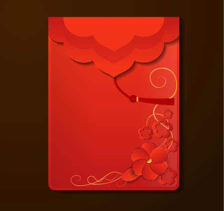 Rote Umschlag mit freiem Platz