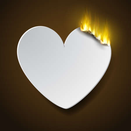 burning paperc heart