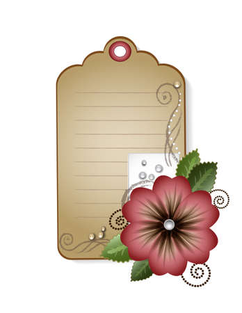 attrition: vintage card with flowers