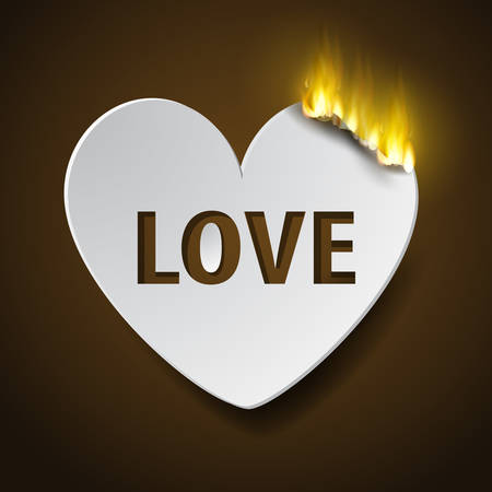 burning paperc heart