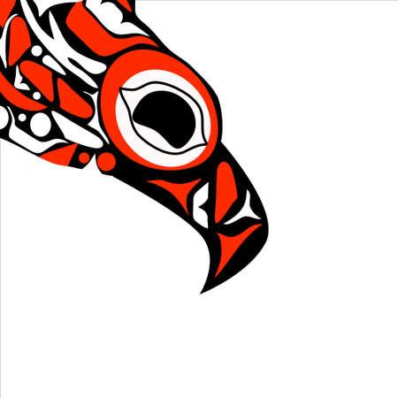 totem bird indigenous art stylization 向量圖像