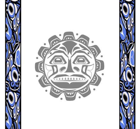 pacific northwest: Vector illustration of the sun symbol