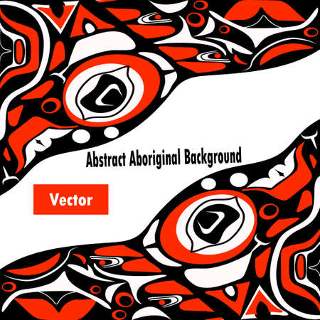 canada aboriginal: abstract red background native north american Illustration