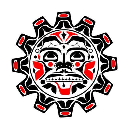 太陽のシンボルのベクトル イラスト