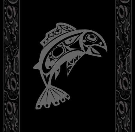 pacific northwest: Native fish Vector