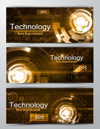 Set of modern scientific banners Reklamní fotografie - 70320558
