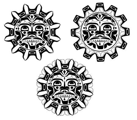 Vector illustration of the sun symbol