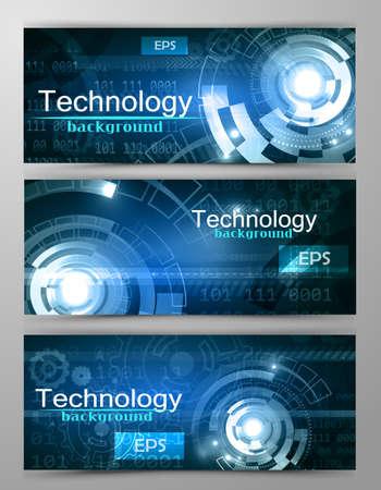 Set of modern scientific banners Reklamní fotografie - 70486622