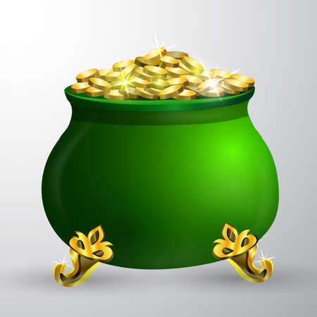 irish culture: St. Patrick s Day symbol green pot