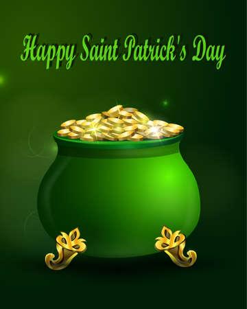 st patrick s day: St. Patrick s Day symbol green pot