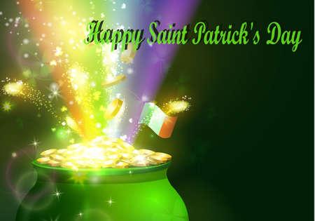 聖パトリックの日シンボル グリーン ポット