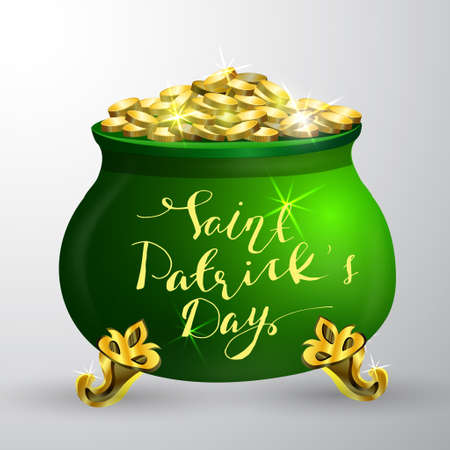 patrick: St. Patrick s Day symbol green pot
