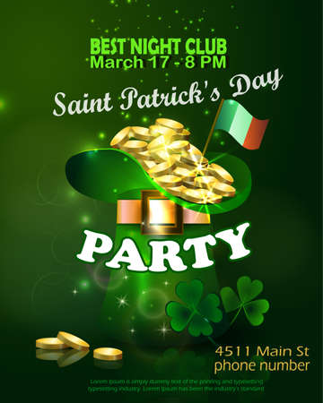 Saint Patricks Day Invitation Card Design Illustration