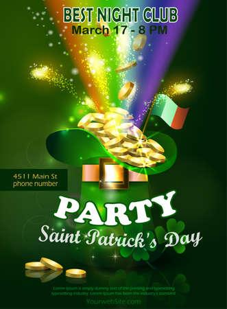 Saint Patricks Day Invitation Card Design Illustration