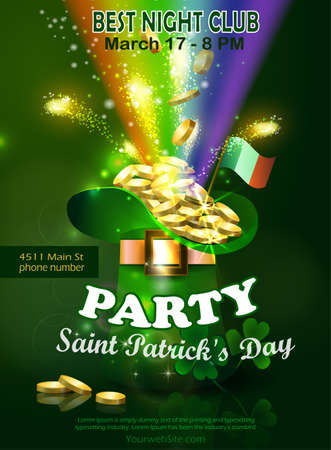 Saint Patricks Day Invitation Card Design Vettoriali