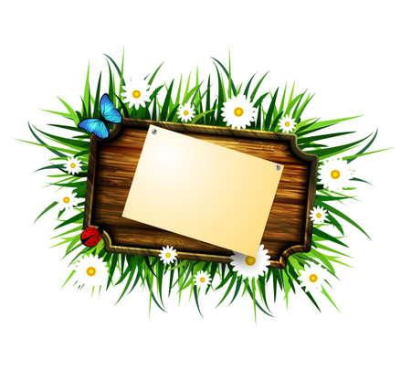 pin board: wooden board on a loan