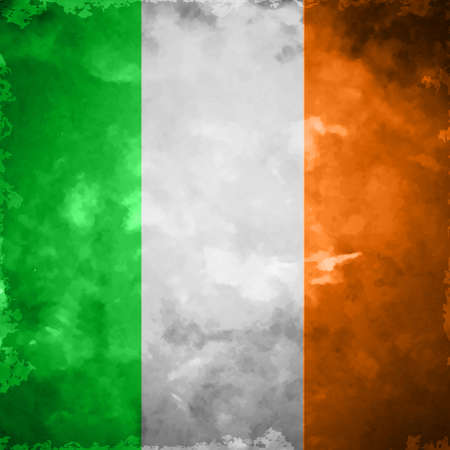 Crumpled flag of Ireland grunge and vintage vector
