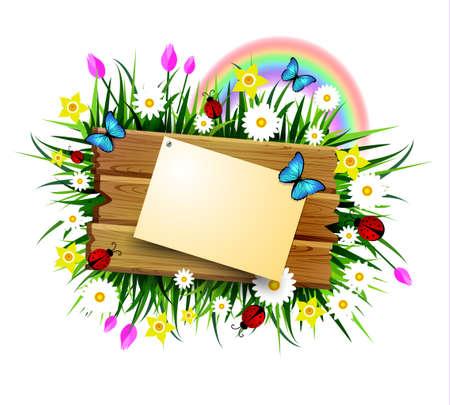 Wooden board on a loan Фото со стока - 72447654