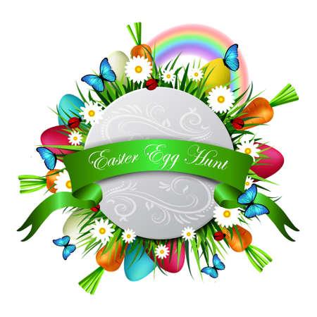 Happy ester card Illustration