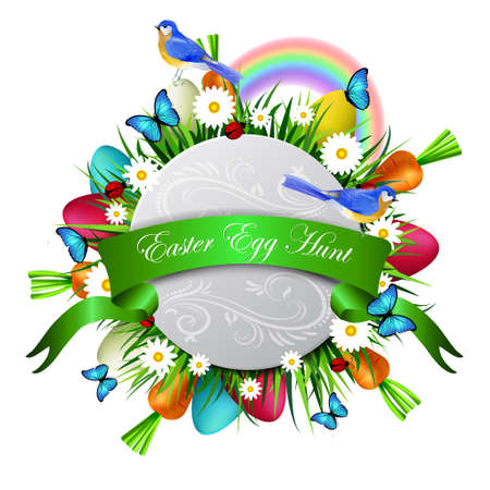 Happy ester card Illustration