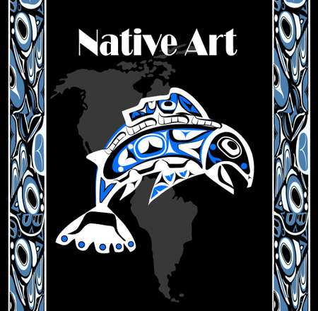 northwest: Native salmon Vector