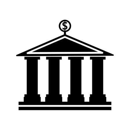 banking building vector icon 向量圖像
