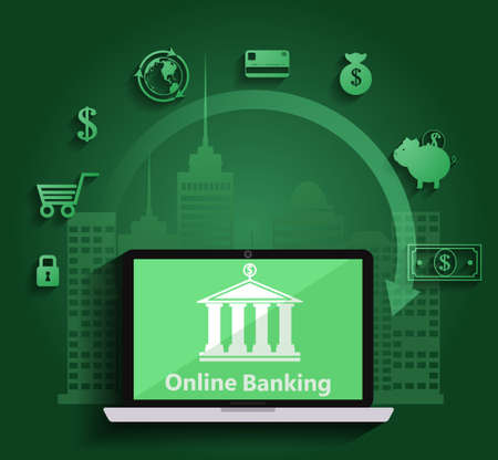 Concept for mobile banking and online payment Illustration