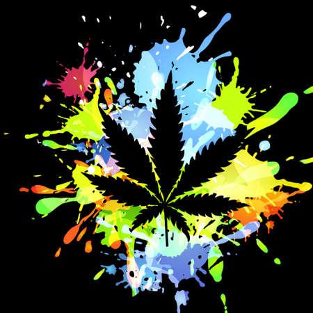 Medical marijuana ink blots Vettoriali
