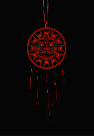 Dream Catcher with indigenous pattern
