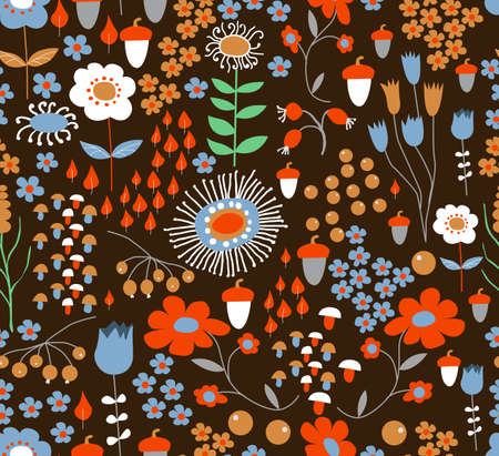 Seamless flower background Ilustração