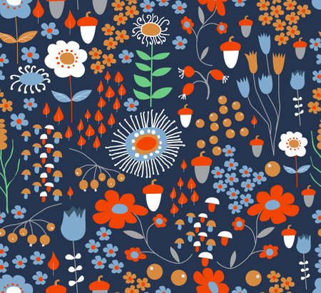 Seamless flower background Banque d'images - 75740043
