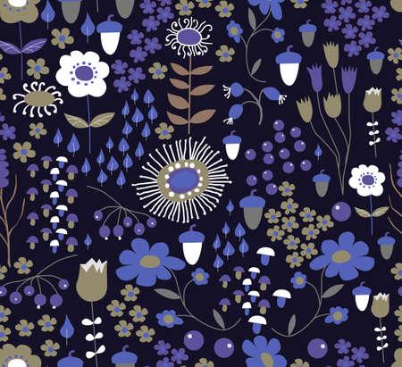 Seamless flower background Illustration
