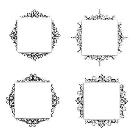 Vintage baroque frame Stock fotó - 76730915