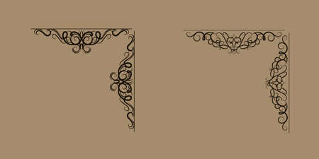 Swirl floral design set
