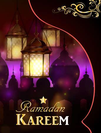 islamic pattern: magic stain glass light Illustration