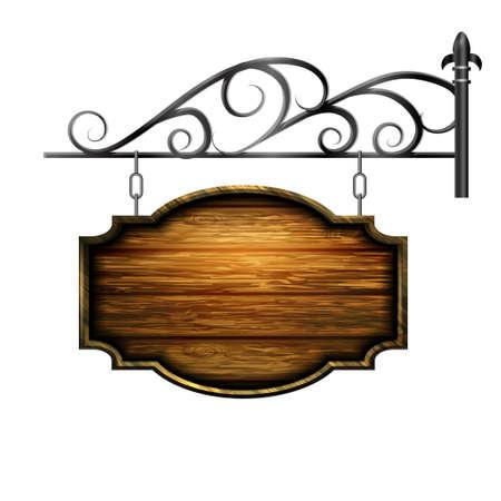 Vector houten bord Stock Illustratie
