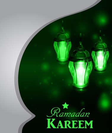 islamic pattern: Magic stain glass light