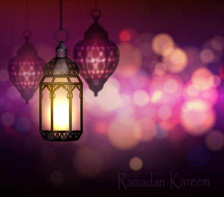 islamic pattern: Ramadan Kareem Greetings Illustration