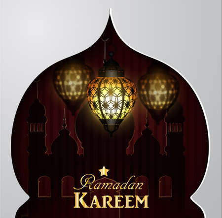 islamic pattern: magic stain glass light Stock Photo