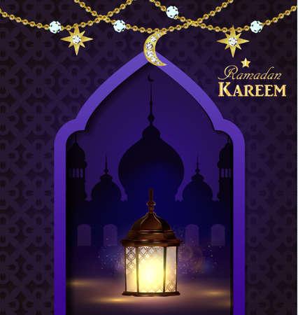 Islamic design mosque door Illustration