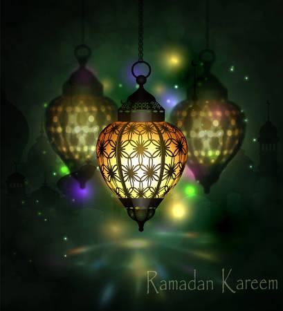 Ramadan Kareem arabic lantern Foto de archivo - 80684447