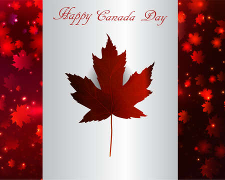 canadian flag: Happy Canada Day background