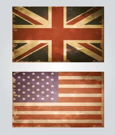 british culture: British flag old Illustration