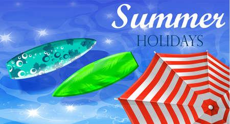 seacoast: colorful umbrella swimming pool