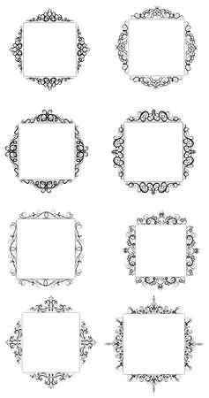 Vintage baroque frame