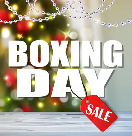 christmas tree illustration: Vector Background for Boxing day