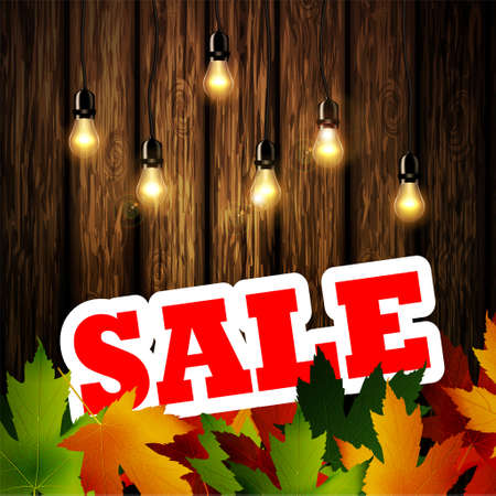 Advertisement about the autumn sale patio lights Illustration